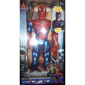 Spiderman Muñeco 30 Cm Grande Emite Sonidos Y Luz