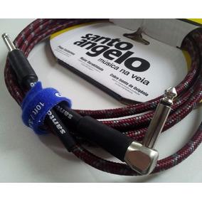 Cabo Fio Guitarra Baixo Violão Santo Angelo 3mts P10l Textil