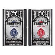 Par Baralho Bicycle Prestige Dura-flex 100% Plástico