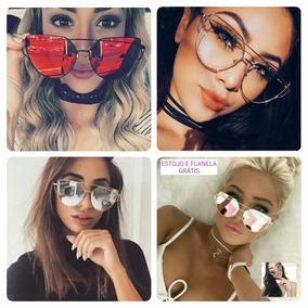 Oculos Espelhado Feminino Azul - Óculos De Sol no Mercado Livre Brasil e79ad63e21