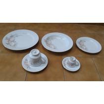 Jogo Jantar Chá E Café 42 Peças Porcelana Schmidt Classic