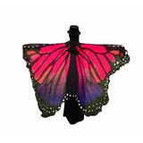 Véu Capa Asa Wings Borboleta Fantasia Rosa E Roxo