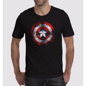 Camisa Capitão Geek Super Herois América Marvel Avengers M-2