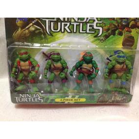 Kit 4 Boneco Tartaruga Ninja Turtles 11 Cm - Pronta Entrega