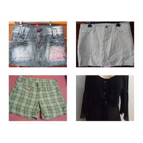 Lote Com 2 Mini Saia 1 Shorts Xadrez E 1 Blusinha