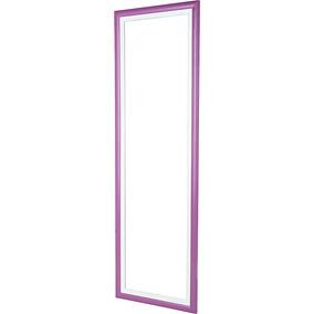 Quadro Espelho 37x118cm Com Moldura Color Euroquadros