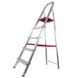 Escada De Alumínio 5 Degraus Residencial Er05 Rotterman