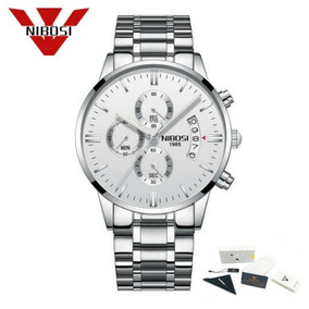 Relógio Nibosi® Original Crono/cronógrafo Com Caixa +manual