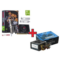 Kit Fonte Atx Gamer 500w + Placa De Vídeo Geforce 210 1gb