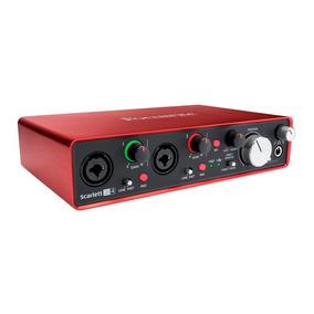 Interface P/ Gravação Focusrite Usb Scarlett 2i4 2a Geração