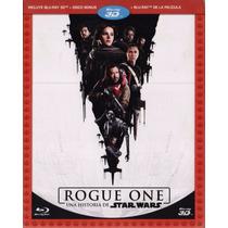 Rogue One Una Historia De Star Blu-ray 3d+ Bd + Disco Bonus