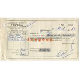 Recibo Licorerias Y Bodegas Topeka Barranqueras Chaco 1962