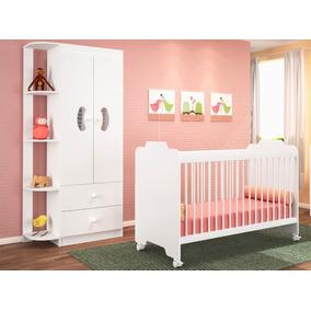Dormitório Infantil Ternura 2 Peças - Berço E Roupeiro