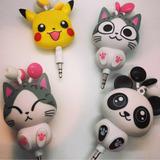 Auriculares Con Cable Retráctil Pokemon, Panda Y Gatitos