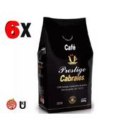 6x Cafe Molido Cabrales Prestige 500gr 3kg Tostado