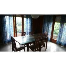 Mesa De Comedor Con 8 Sillas + Vidrio Cobertor