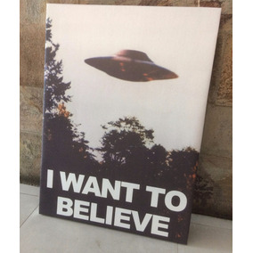 Cuadros I Want To Believe X Files Poster Tela 50x60