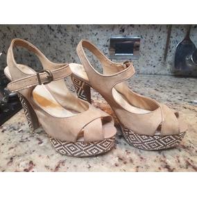 Zapatos Tacones Dama Mujer Sandalias Marca Aishti Talla 8.5