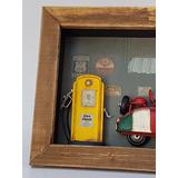 Cuadro En Miniatura Modelo Gasolinera - Decoracion