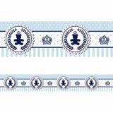 Faixa Decorativa - Ursinho Coroa Azul 10 Metros