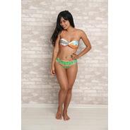 Biquíni Com Bojo-estampa Exclusiva-moda Praia-beachwear