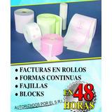 Facturas En Rollo, Formas Continuas.