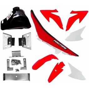 Kit Roupa Plastico Crf230 Adaptável Bros125 Bros150 Dt180
