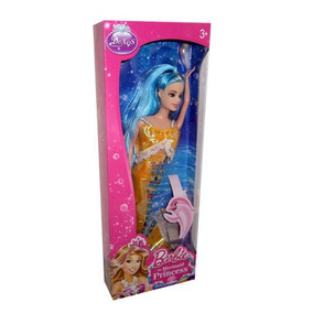 Juguetes Muñeca Tipo Barbie Princesa Sirena.