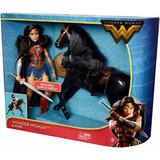 Mattel - Wonder Woman - Princesa Diana E Cavalo - 30 Cm