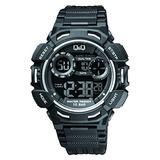 Reloj Deportivo De Los Hombres Q Y Q; Banda Digital Superio