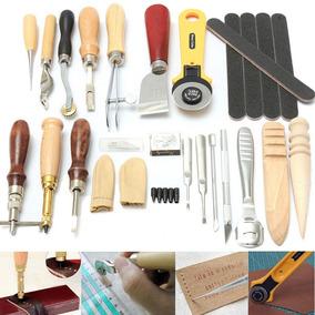 Artesanía De Cuero Punch Kit 24 Herramientas Costura Talla