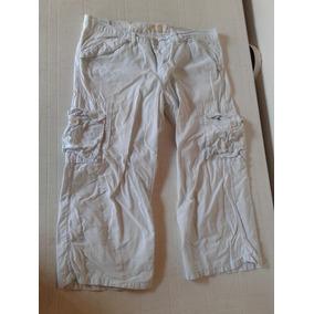Pantalon Mujer Celeste Cargo By Deep Talle 32