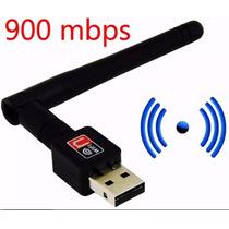 Antena Receptora Wireless Wifi Usb 900 Mbps Para Pc Notebook