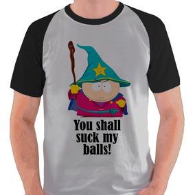 Camiseta Cartman South Park Suck Balls Camisa Blusa Raglan