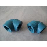 Codo Plastico Con Rosca De 1/2 Pulgada.