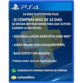 Membresia Playstation Plus Psn 14 Dias Online Juegos Agosto
