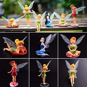 6 Fadas Miniaturas Tinker Bell Fadinhas Sininho Mini Jardim