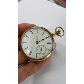 Relógio De Bolso Antigo Elgin Folheado Comemoração 20 Anos