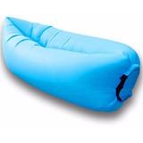 Pouf Inflable Tipo Mueble Comodo Importado De Usa Color Azul