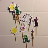 Toppers Postres Enredados Rapunzel Princesa Disney (docena)