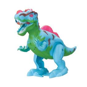 Dinossauro Anda E Balança Cauda Com Som E Luz Brinquedo