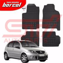 Tapete Borracha Interlagos Citroen C3 2007 2008 Borcol 4 Pçs