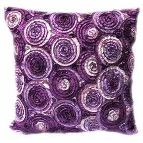 Cojín Dos Tonos 3d Ramo De Rosas Púrpuras Throw Tamps