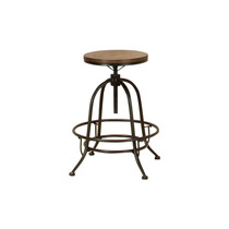 Banco Sunset Trading Rustic Elm Industrial Deluxe Swivel Bar