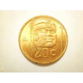 Moneda 20 Centavos Cultura Olmeca 1984 Bronce Envió Gratis