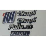 Kit Palio 1 Logo Fiat +2 1.0mpi +1 Palio-ed Fiat 96/99
