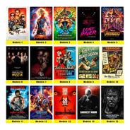 Kit 10 Placas Decorativas Poster Filmes De Todos Os Estilos