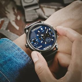 Guanqin Zafiro Luminoso Reloj Dual Time Display Quartz Watch