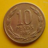 Chile 10 Pesos 1985 Muy Escasa ( N C )
