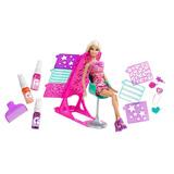 Barbie Super Estilo, Salon De Colores Y Diseno